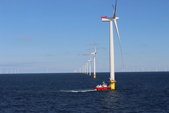 Photo of offshore windfarm