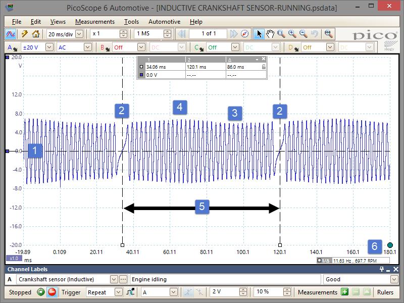 CPS Testing an inductive crankshaft position sensor