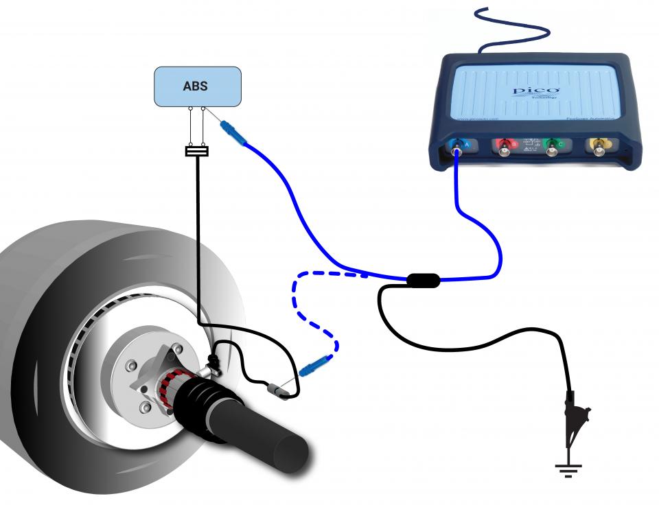 abs wheel speed sensor (inductive) voltage