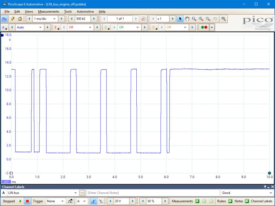 GT124-example-waveform Automotive Wiring Loom on