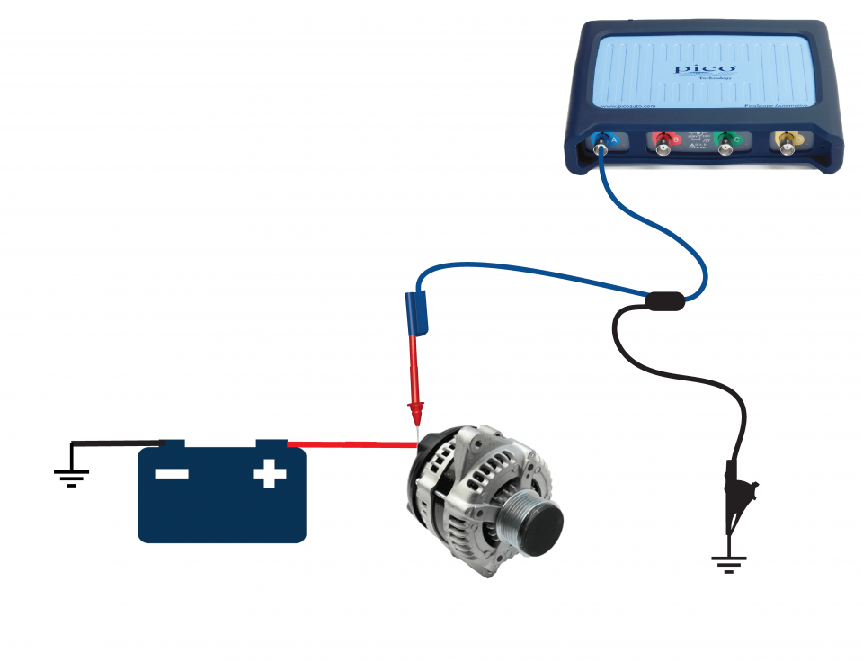 alternator ac ripple/diode test – without pcm control