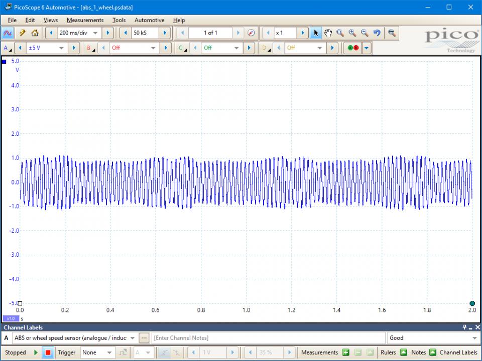 ABS wheel speed sensor (inductive) - voltage