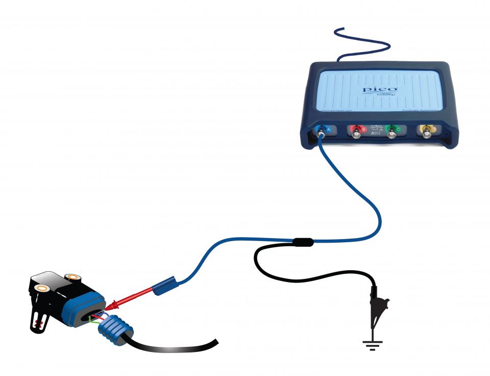 Manifold absolute pressure sensor voltage (turbo diesel)