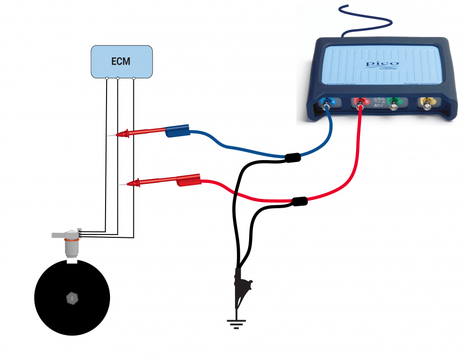Camshaft sensor - AC excited type