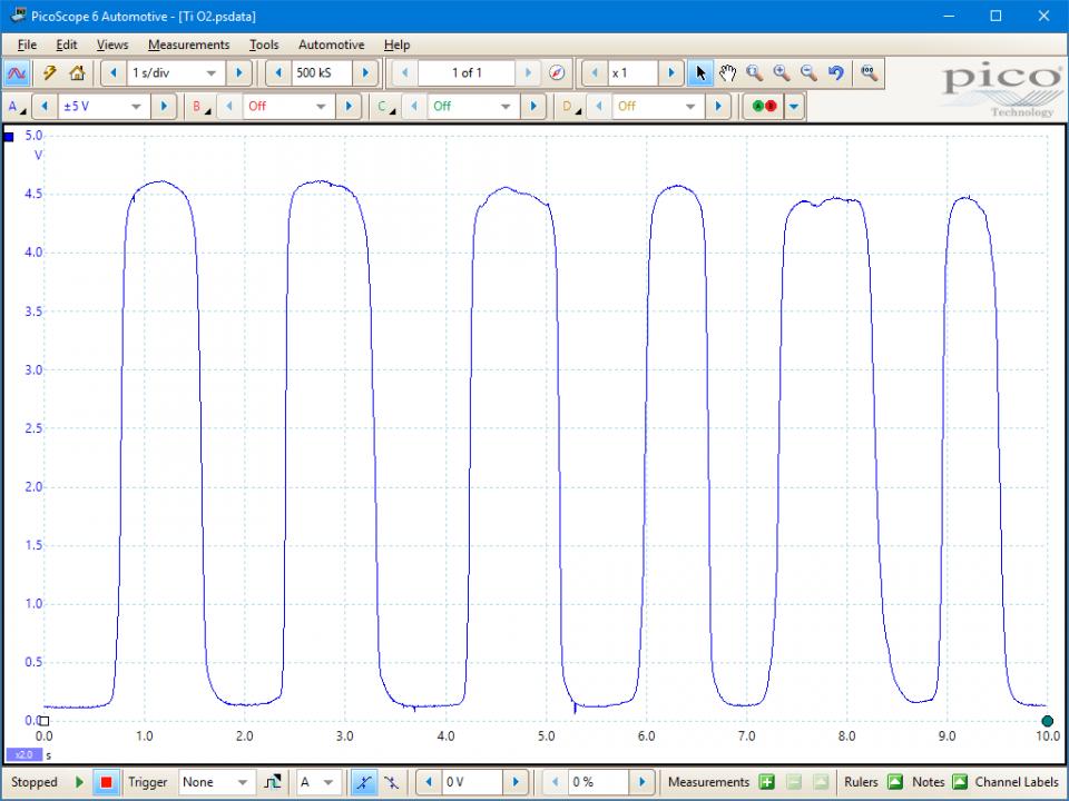 Lambda sensor (titania) - voltage