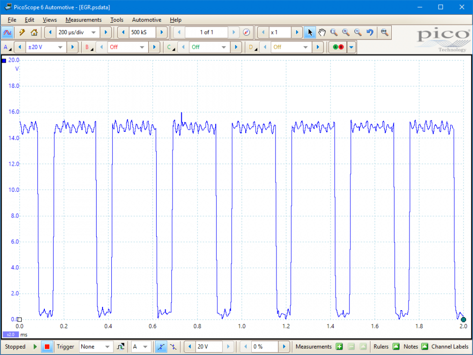 Testing an EGR solenoid valve | Pico Technology