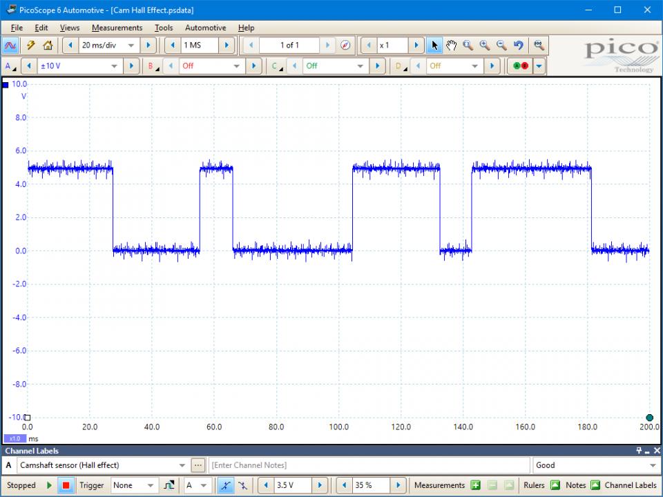 Camshaft sensor - Hall effect