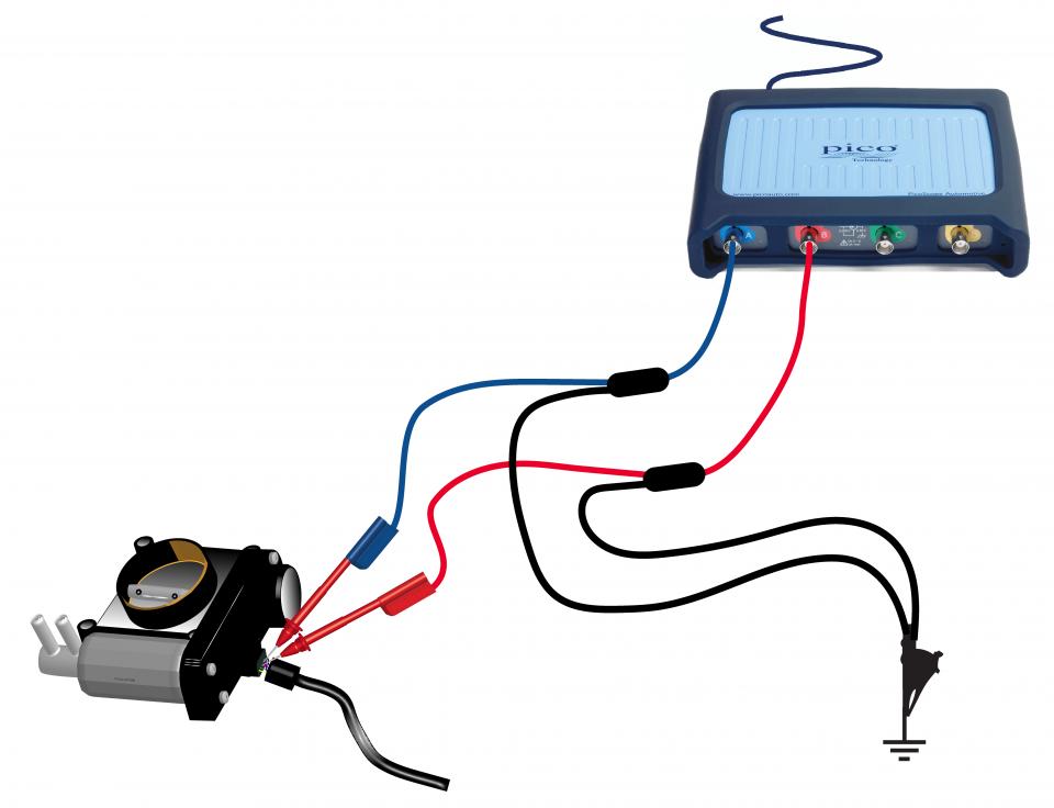 Throttle servomotors - How to test - Pico Technology