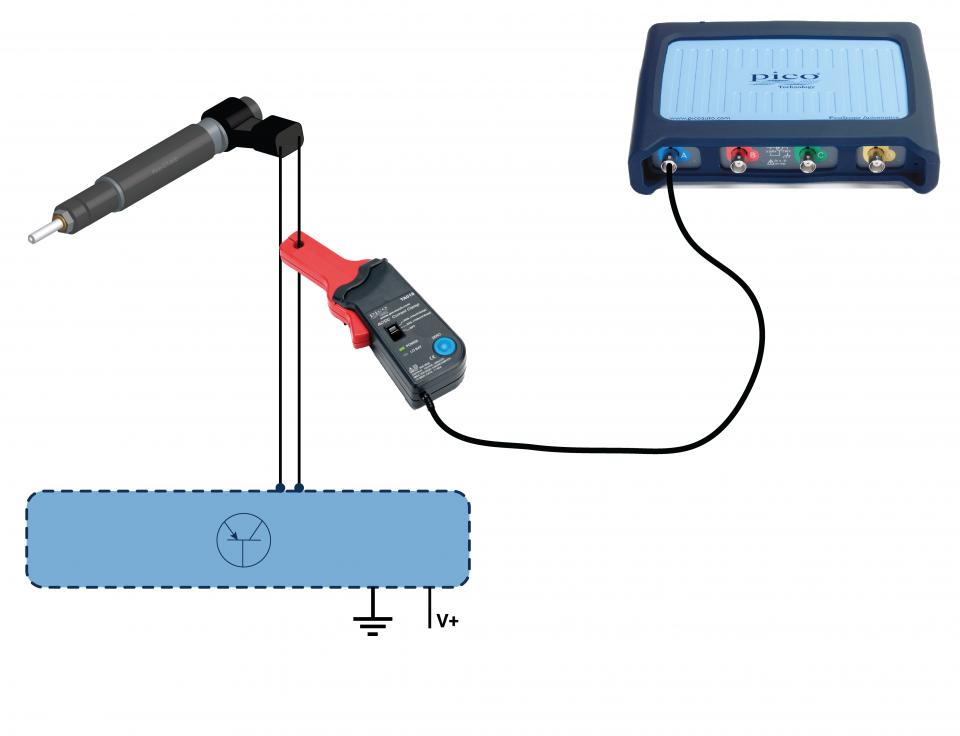 CRD (Bosch) piezo injector circuit current