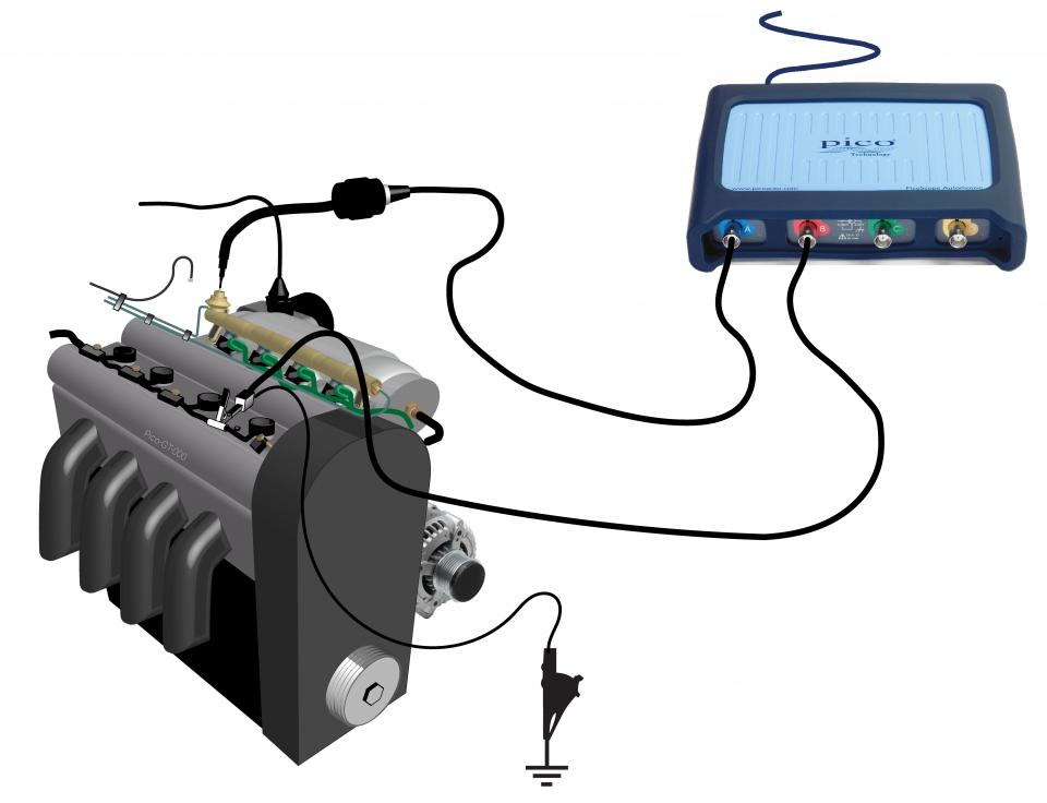 Fuel pressure regulator vacuum pulsation (ignition triggered