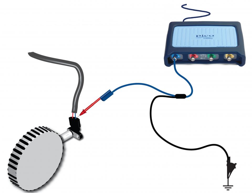 Crankshaft position sensor inductive, referenced, voltage