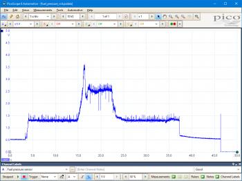 CRD (Bosch) fuel rail pressure sensor - voltage