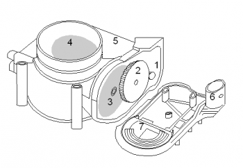 Throttle servomotor body