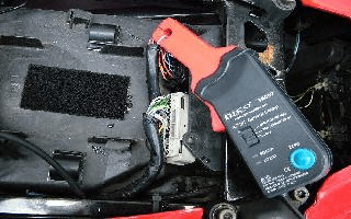 Fuel injector current testing