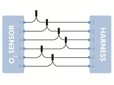 02 sensor heater circuit resistance