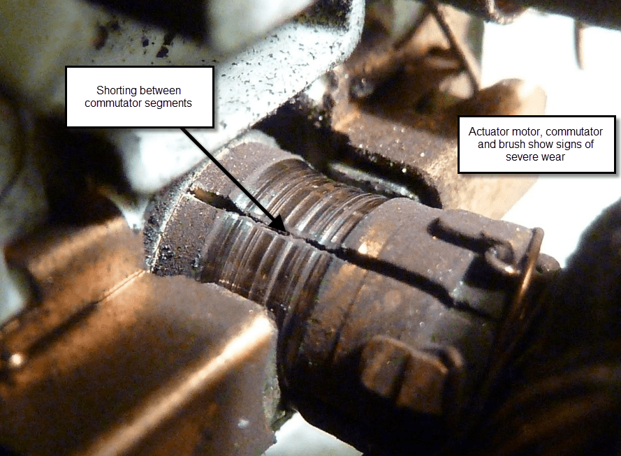 SHORT AT COMMUTATOR SEGMENTS