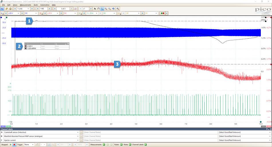 EGR valve failure on