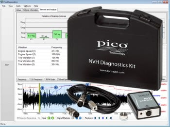 Noise and vibration (NVH) diagnostic kit