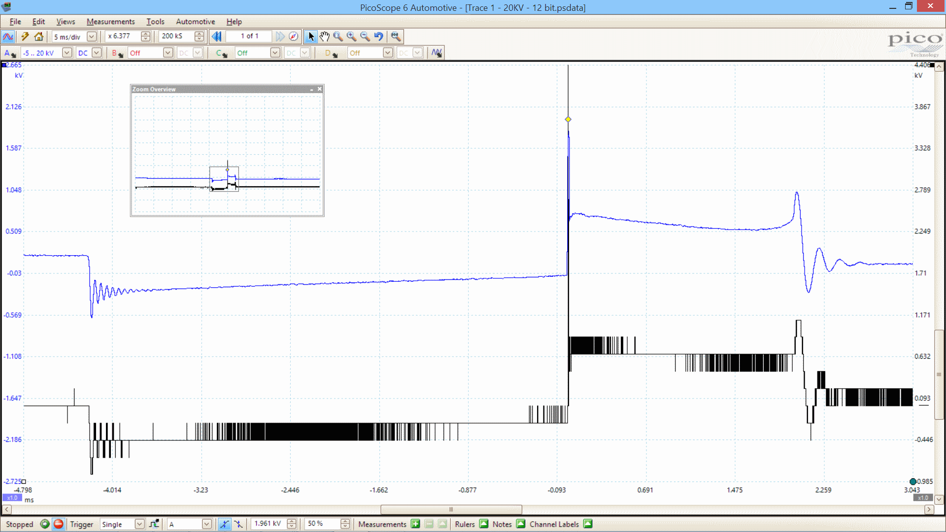 Ignition waveform