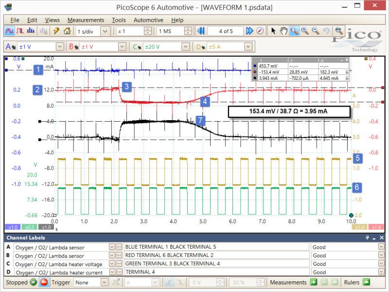 Volt Drop Test Of Bosch Lsu 4 2 Oxygen Sensor  Pre