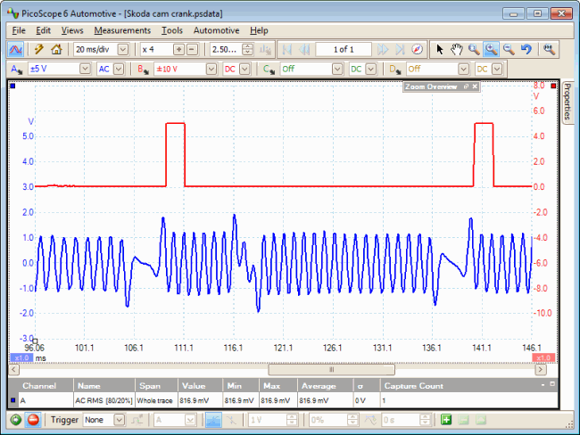 crankshaft revolution waveform