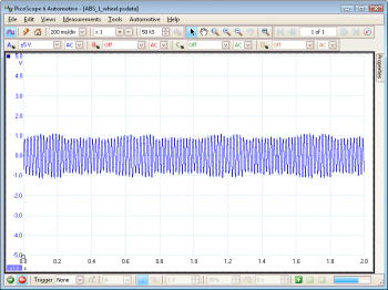 ABS 1 Wheel waveform