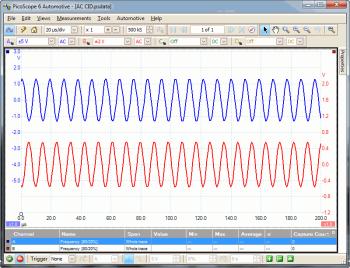 AC Camshaft sensor waveform