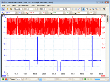 camshaft vs crankshaft fault waveform