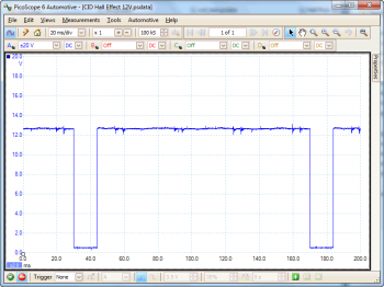 camshaft sensor hall effect waveform