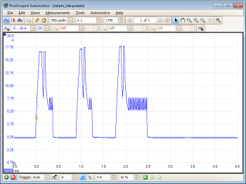 Delphi Injector Idle waveform