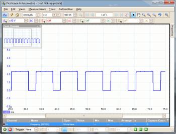 distributor pick-up hall effect waveform
