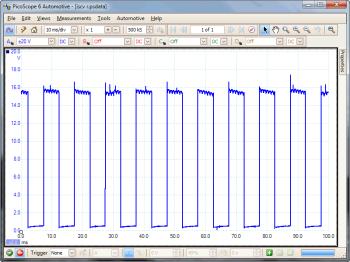 idle speed control valve rotary waveform