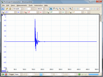 knock sensor waveform