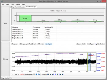VW Golf NVH diagnostics