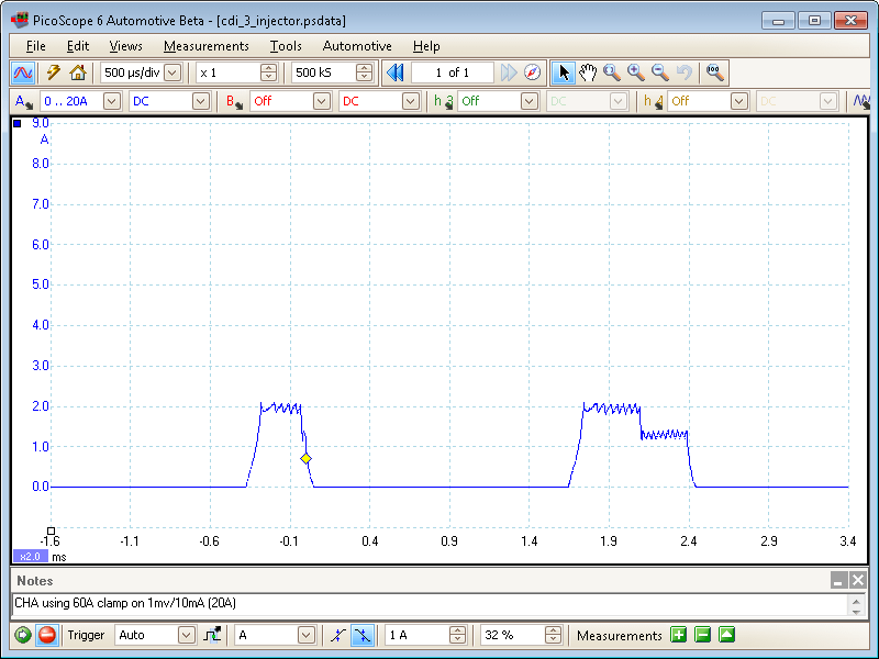 Bosch CDi 3 Injector waveform