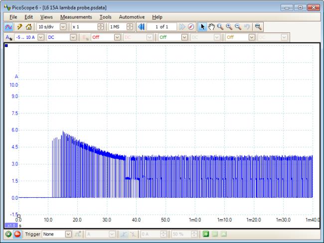 Lambda sensor waveform