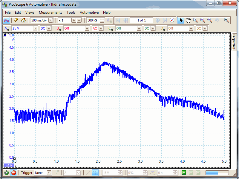 hdi airflow sensor waveform