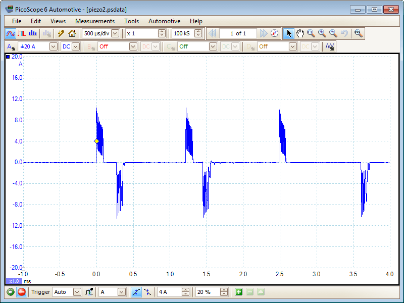 Piezo Injector Waveform