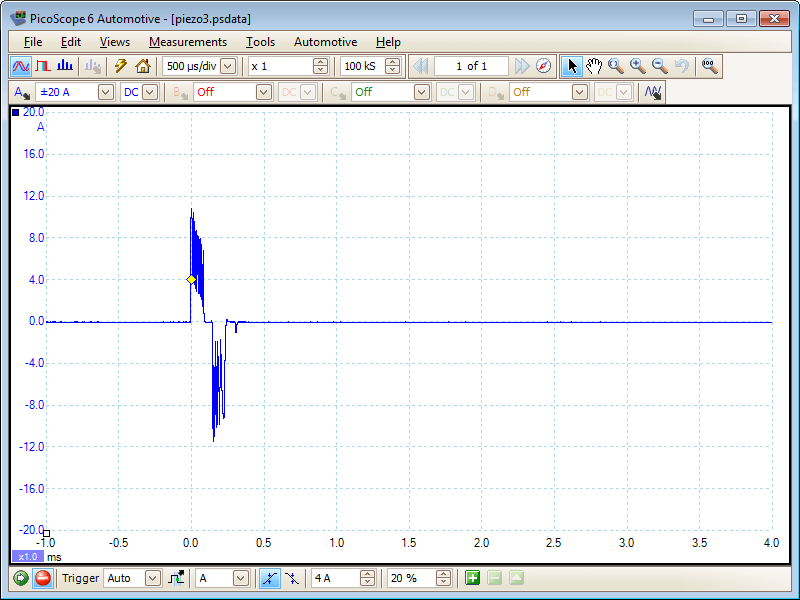 Peizo Injector Waveform Over-run
