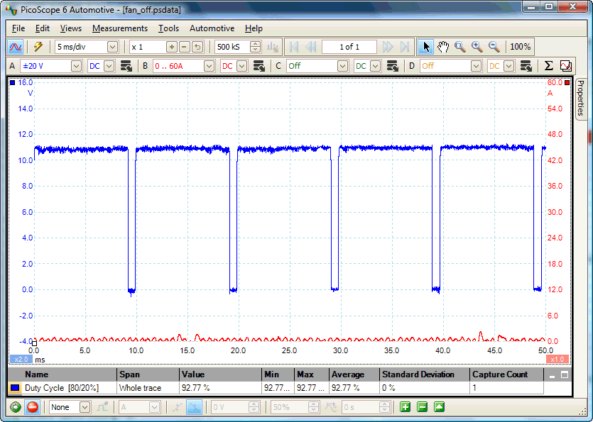 Variable-speed engine cooling fan waveform